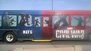 Immagine Captain America Civil War Bus at DHS (27127568594).jpg.