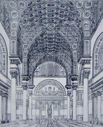 3rd century in architecture - Baths of Caracalla (reconstructive drawing from 1899)