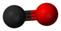 Ball-and-stick model of carbon monoxide