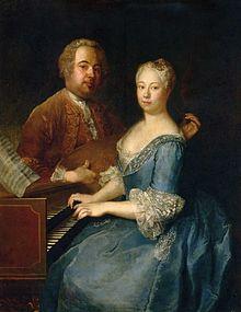 Carl Heinrich Graun mit seiner Frau Anna Luise, Gemälde von Antoine Pesne etwa 1733 (Quelle: Wikimedia)