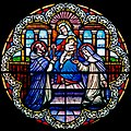 Carl Huneke's stained glass window - St Dominic and St. Catherine - Dominican Sisters of Mission San Jose.jpg