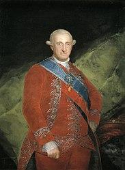 Francisco de Goya: Carlos IV de vermelho
