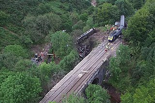 Stonehaven derailment Train derailment in Scotland