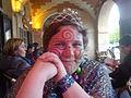 Carnaval des Femmes 2011 - Alexandra Bristiel juste après la fin de la fête.JPG