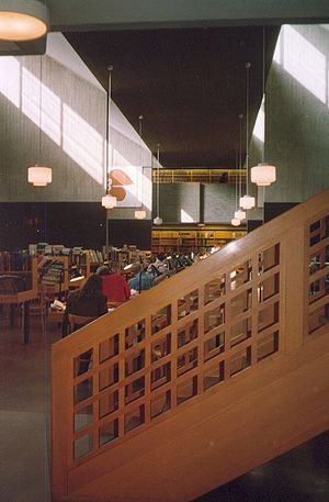 Peter Celsing - Interior of Celsing's Reading Room C of Carolina Rediviva