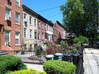 """Carroll Gardens, Brooklyn - The """"Gardens"""" in Carroll Gardens comes from the large front gardens in the Historic District and elsewhere in the neighborhood"""