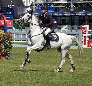 English: German rider Carsten-Otto Nagel with ...