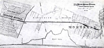 Plan of Mount Royal and of the Mount Royal Tunnel