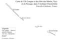 Carte de l'île Longue et des îlot des Martin, Veys et du Passage, Chesterfield.png