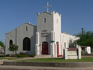 First Baptist Church (Casa Grande, Arizona) - Image: Casa Grande First Baptist from SE 1