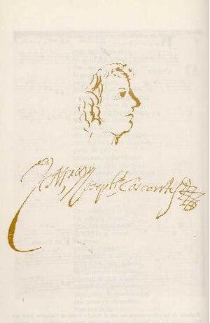 José de Cascante - Caricature of José de Cascante, from the manuscript of one of his works.