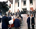 Casket for Florida State Senator Pat Thomas being carried up the steps of the Old Capitol.jpg
