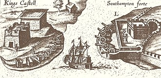 Castle Harbour, Bermuda - Illustration from John Smith's 1624 map of Bermuda, from The Generall Historie of Virginia, New-England, and the Summer Isles, showing Castle Roads.