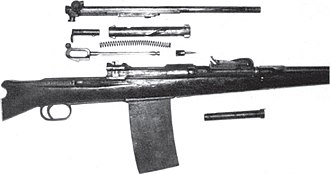 Cei-Rigotti - The Cei-Rigotti rifle field stripped.