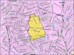Census Bureau map of Elmwood Park, New Jersey