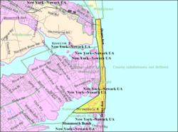 Census Bureau map of Sea Bright, New Jersey