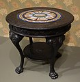 Center Table by William H. Fry, c. 1860-1880, ebonized white oak and Italian micromosaic - Cincinnati Art Museum - DSC03033.JPG