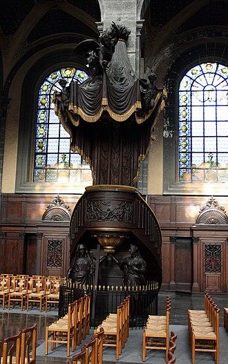 Church of Saint-Étienne, Lille - Pulpit by François Rude