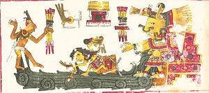 Chalchiuhtlicue - Chalchiuhtlicue in Codex Borgia.