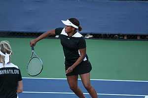 Chanda Rubin - Chanda Rubin playing in the U.S. Open Champions Team Tennis September 9, 2010