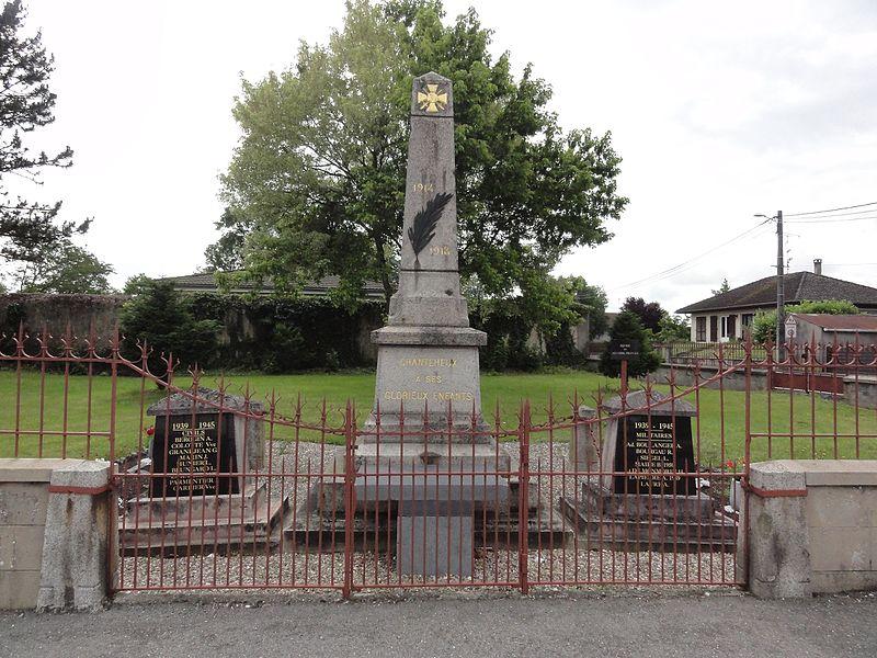 Chanteheux (M-et-M) monument aux morts