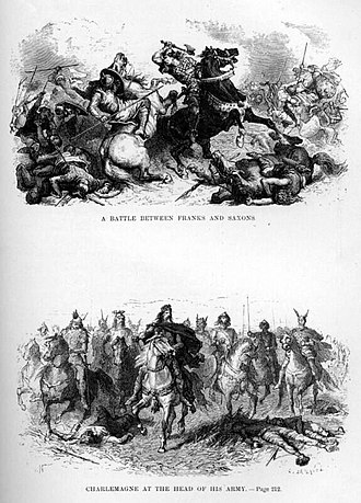 Saxon Wars - Charlemagne and the Saxons, A. de Neuville, c. 1869