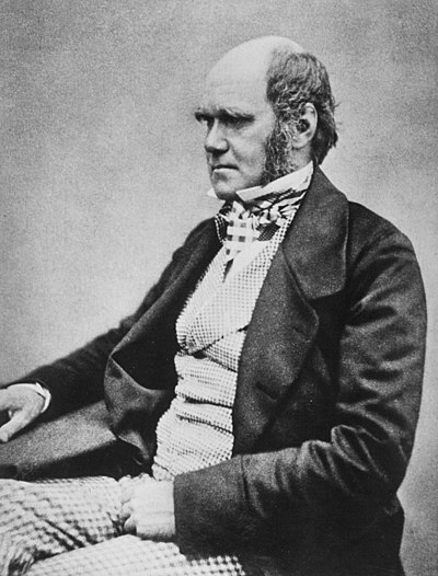 "Charles Darwin, British naturalist, author of ""On the Origin of Species, by Means of Natural Selection"""
