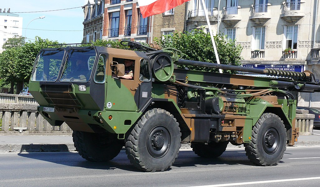 Moyen de Forage Rapide de Destruction (MFRD) of the 3rd regiment engineers, 1st Mechanised Brigade of the French Armée de Terre during the Bastille Day Parade in Charleville Mézières, 2010.