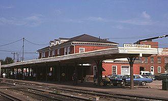 Charlottesville Union Station - Main Street Station in August 1974