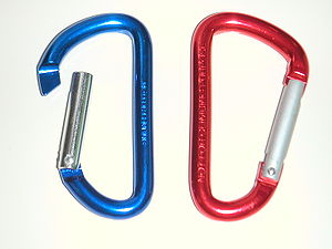 Anodizing - These carabiners have an anodized aluminium surface that has been dyed; they are made in many colors.