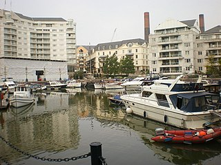 Chelsea Harbour mixed-use development in Hammersmith and Fulham, London