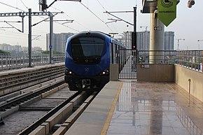 Chennai Metro Rail at Koyambedu.JPG