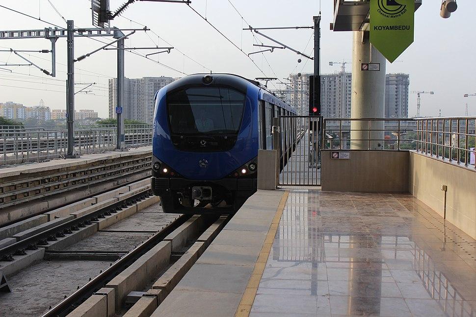 Chennai Metro Rail at Koyambedu