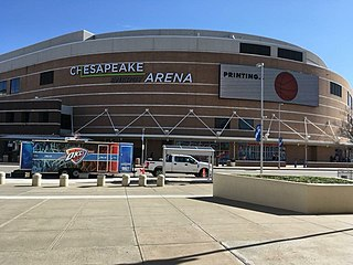 Chesapeake Energy Arena arena in downtown Oklahoma City