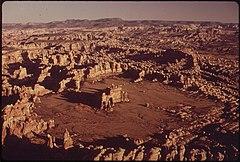 Chesler Park in the Needles Area, One of the Most Famous Parts of the Canyonlands. Once a Popular Destination for Jeep Trippers, Chesler Park Has Now Been Closed to Vehicle Traffic to Prevent Erosion, 05-1972 (3814168407).jpg
