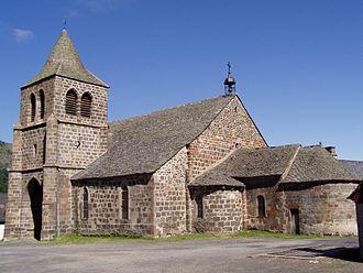 Cheylade - The church of Saint Léger, in Cheylade