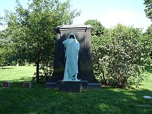 Eternal Silence (sculpture) - Hooded bronze figure