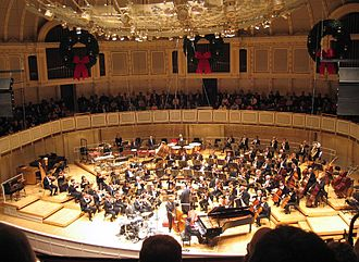 Chicago Symphony Orchestra - The Chicago Symphony Orchestra at Symphony Center, December 2005, Jazz at the bottom