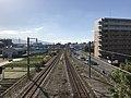 Chikuhi Line from overpass of Susenji Station.jpg