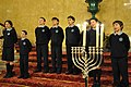 Children lead Chanukah songs (3129903483).jpg