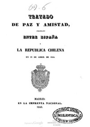 Luis González-Bravo y López de Arjona - Chile and Spain Independence and Peace Treaty, 1844