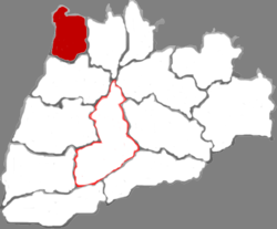 Location in Yuncheng