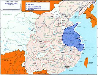 "Major Chinese warlord coalitions during the ""Nanjing Decade"". Chinese civil war map 02.jpg"