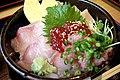 Chirashi don by yoppy in Akasaka, Tokyo.jpg