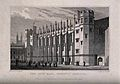 Christ's Hospital, London; the exterior of the Hall. Engravi Wellcome V0013048.jpg