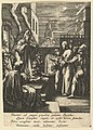 Christ Before Caiaphus, from The Passion of Christ (after H. Goltzius) MET DP820932.jpg