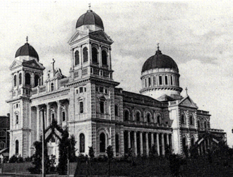 Roman Catholic Diocese of Christchurch - Cathedral of the Blessed Sacrament, Christchurch  in the early 20th century.