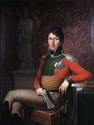 Union between Sweden and Norway - Christian Frederik, hereditary prince of Denmark and Norway. King of Norway May–October 1814. King of Denmark (Christian VIII) 1839–48. Portrait by Johan Ludwig Lund 1813