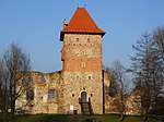 Chudów castle in March.JPG