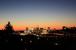 English: Cincinnati, Ohio at dusk.